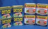 沖縄県産 缶詰セットA スパム4缶 ポークランチョンミート4缶≪メルマガ会員は10%割引≫