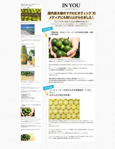 画像1: 【送料無料】 沖縄産 青切りシークワサー 100% 500ml×6本 ※別商品との同梱不可商品