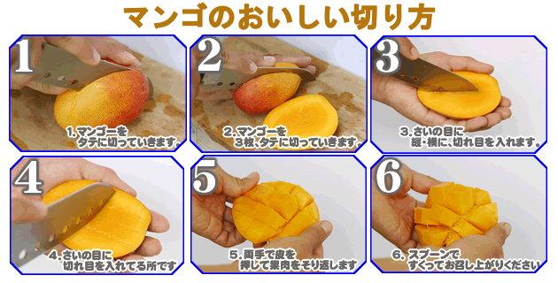 マンゴの食べ方