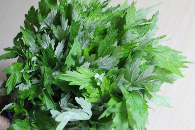 画像1: 沖縄野菜:沖縄産よもぎ 大束約400g 1束  (1)