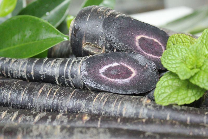 画像1: フレッシュ 生 黒人参約3kg 抗酸化物質のポリフェノールをたっぷり含んだスーパー野菜 (1)