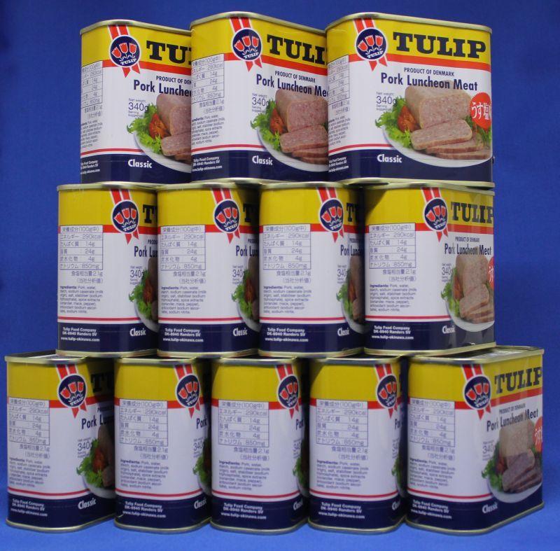 画像1: チューリップ ポークランチョンミート 24缶セット (1)