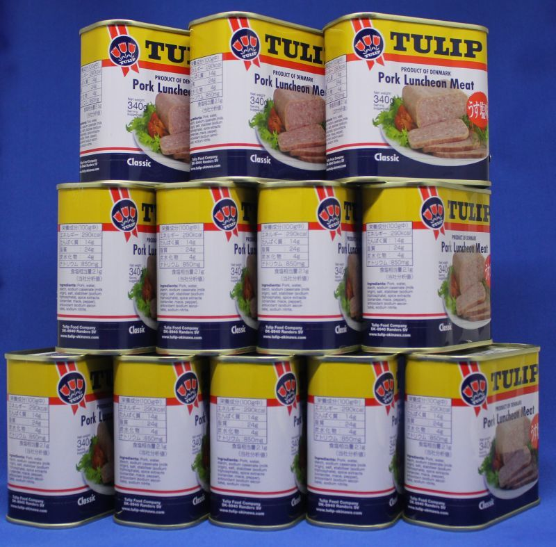 画像1: チューリップ ポークランチョンミート 12缶セット (1)